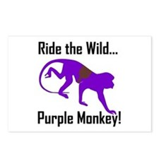 Ride the Wild Purple Monkey Postcards (Package of