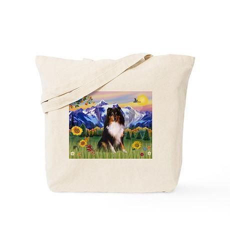 Mt. Country & Tri Shetland Sheepdog Tote Bag