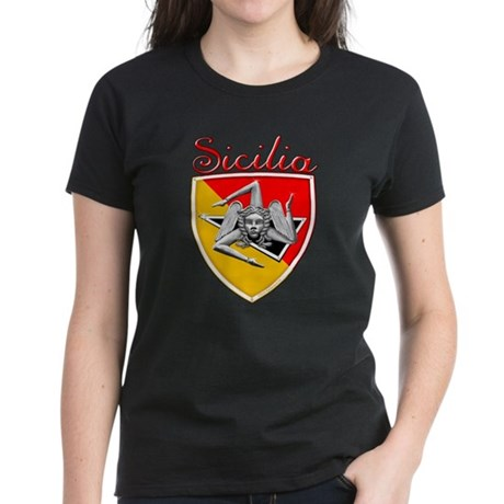 Sicilian Trisceli Women's Dark T-Shirt