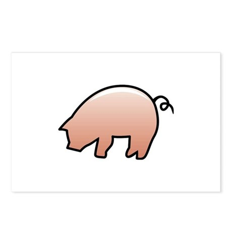 Pink Piggy Postcards (Package of 8)