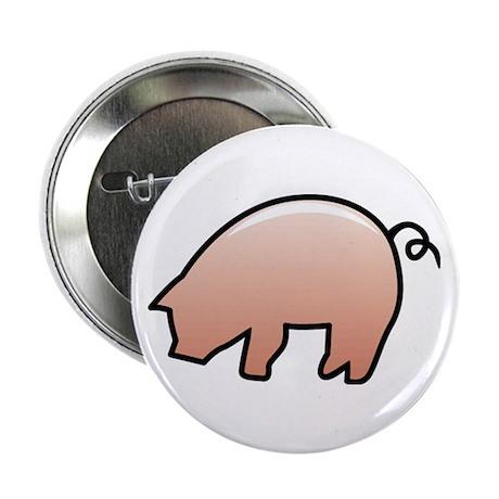 """Pink Piggy 2.25"""" Button (100 pack)"""