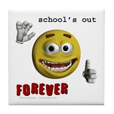 School's out Tile Coaster