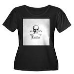 Knitter - Crafty Pirate Skull Women's Plus Size Sc