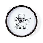 Knitter - Crafty Pirate Skull Wall Clock