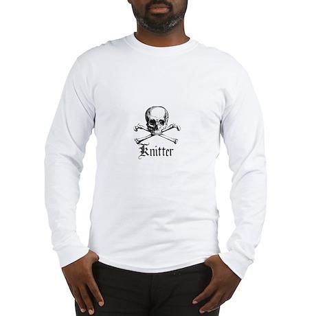Knitter - Crafty Pirate Skull Long Sleeve T-Shirt