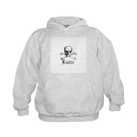 Knitter - Crafty Pirate Skull Kids Hoodie