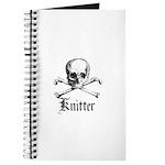 Knitter - Crafty Pirate Skull Journal