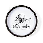Needleworker - Crafty Pirate Wall Clock