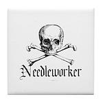 Needleworker - Crafty Pirate Tile Coaster