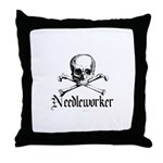 Needleworker - Crafty Pirate Throw Pillow
