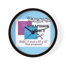 Scrapbook Addict - 12 x 12 St Wall Clock