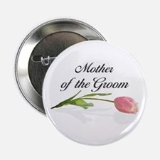 Pink Tulip Mother of Groom Button