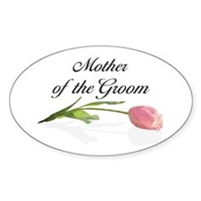 Pink Tulip Mother of Groom Oval Decal