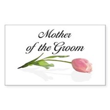Pink Tulip Mother of Groom Rectangle Decal