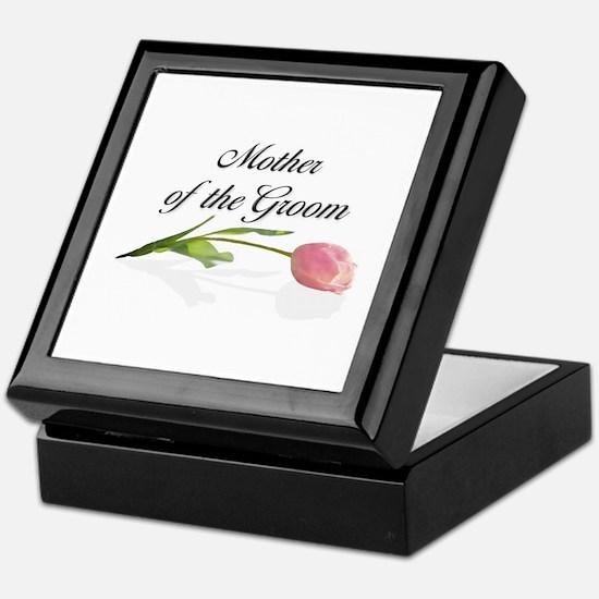 Pink Tulip Mother of Groom Keepsake Box
