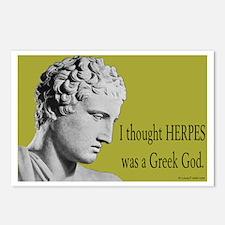 Greek God Herpes Postcards (Package of 8)