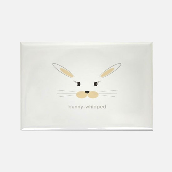 bunny face - straight ears Rectangle Magnet