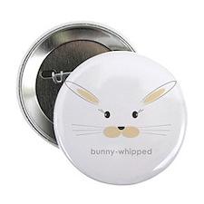 """bunny face - straight ears 2.25"""" Button"""