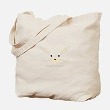 bunny face - straight ears Tote Bag