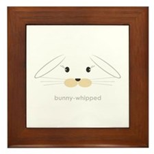 bunny face - lop ears Framed Tile