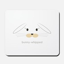 bunny face - lop ears Mousepad