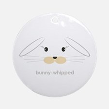 bunny face - lop ears Ornament (Round)