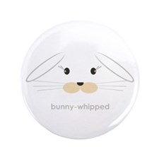 "bunny face - lop ears 3.5"" Button"