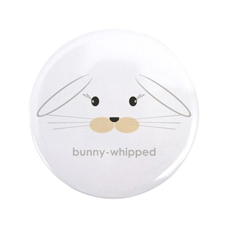 """bunny face - lop ears 3.5"""" Button (100 pack)"""