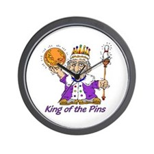 King of the Pins Wall Clock