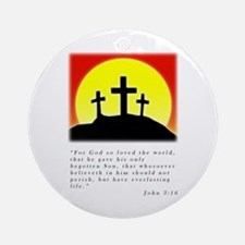 john 3:16 Crosses Ornament (Round)
