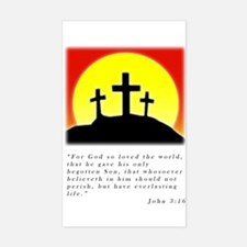 john 3:16 Crosses Rectangle Decal