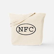 NFC Oval Tote Bag