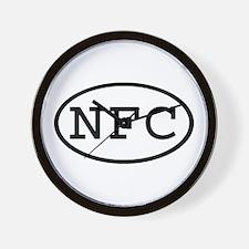 NFC Oval Wall Clock