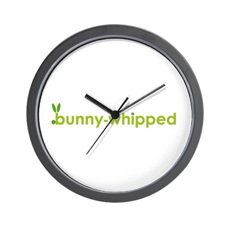 bunny-whipped logo Wall Clock