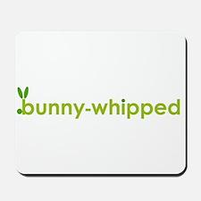bunny-whipped logo Mousepad