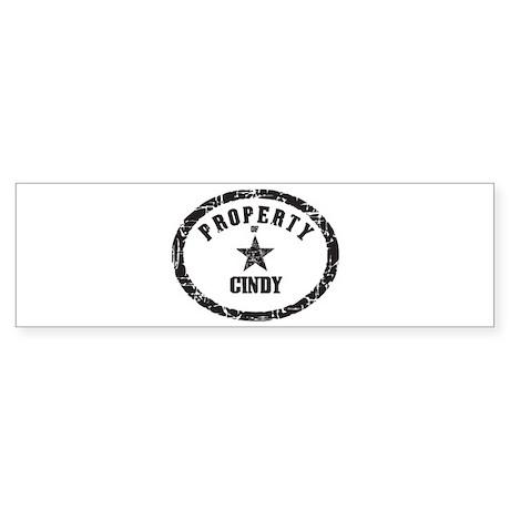 Property of Cindy Bumper Sticker