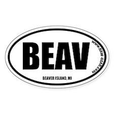 BEAVER ISLAND Oval Decal