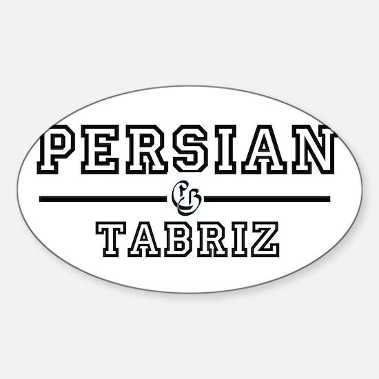 Persian Tabriz Oval Decal