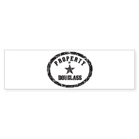 Property of Douglass Bumper Sticker