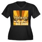 Helena Life Women's Plus Size V-Neck Dark T-Shirt