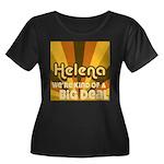 Helena Life Women's Plus Size Scoop Neck Dark T-Sh