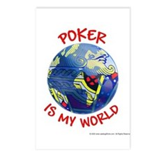 Poker is my World Postcards (Package of 8)