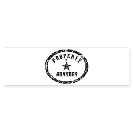 Property of Branden Bumper Sticker