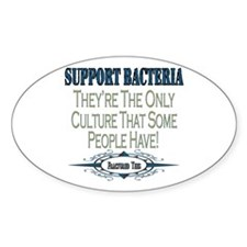 Support Bacteria Oval Decal