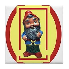 Waldo the Yard Gnome Tile Coaster