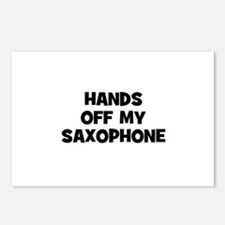 hands off my Saxophone Postcards (Package of 8)