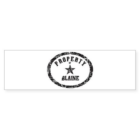 Property of Blaine Bumper Sticker