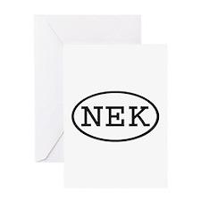 NEK Oval Greeting Card