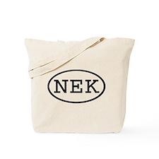 NEK Oval Tote Bag