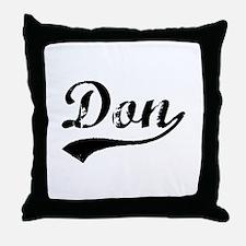 Vintage Don (Black) Throw Pillow